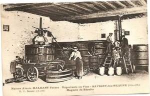 La Cuverie et son pressoir en 1900